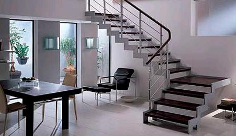 escalier exterieur design aluminium